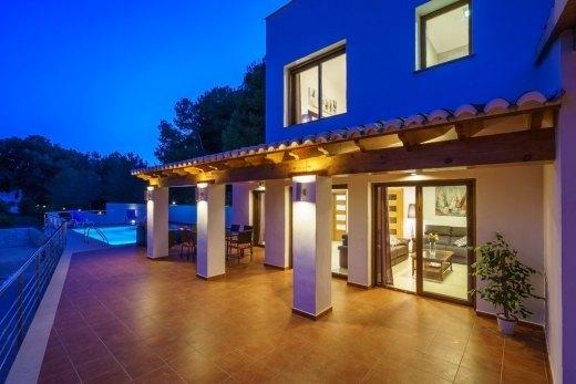 Venta chalets moraira costa blanca villas villas en for Piscina marva