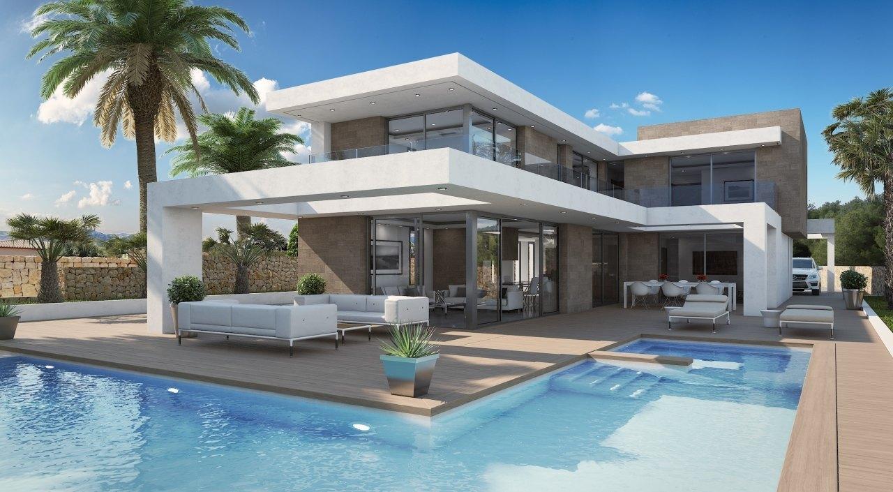 Se vende villa moderna en moraira ref mp011 marva for Piscina marva